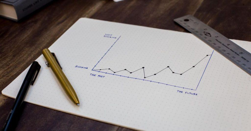 Wykres na kartce papieru